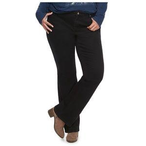 Sonoma curvy slim Bootcut black jeans 20W short